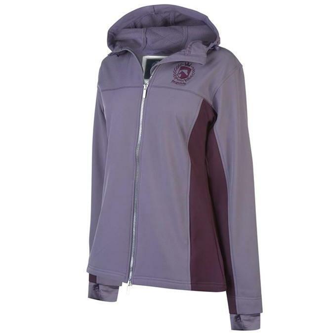 Requis Pour Femme Soft Shell Zip Complet Veste à Manches Longues Taille UK 16  REF56