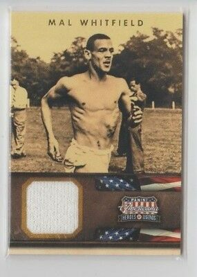 Mal Whitfield #76 Americana Heroes And Legends 2012 Panini Trade Card C2180