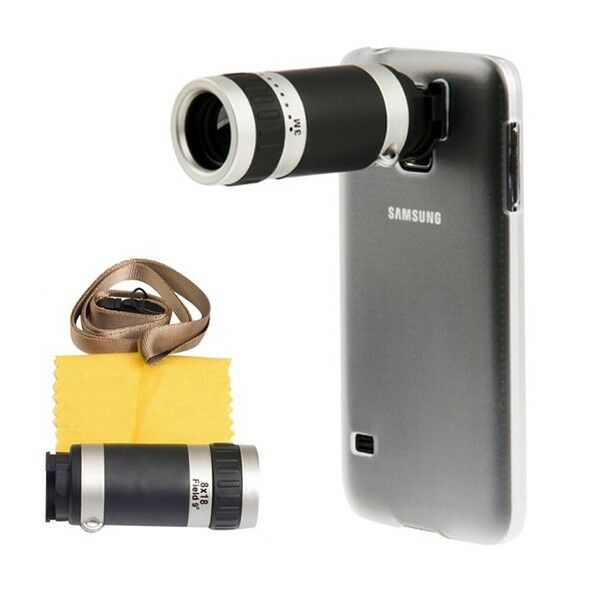 8X Optical Zoom Lens Camera Telescope Hard Case Cover For Samsung Galaxy S5 SV