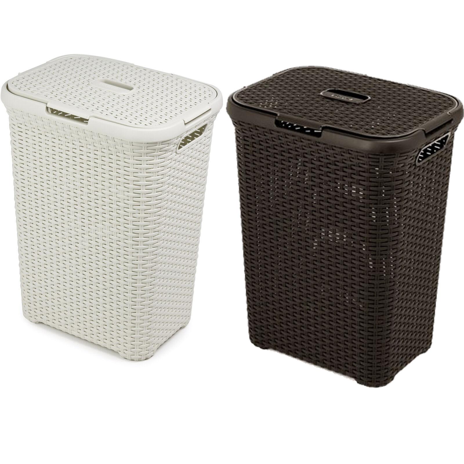 Rattan Design Laundry Bin Washing Basket Bucket Hamper