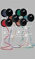 Curling Ribbon Dispenser 12 Adjustable 6 Peg Hook White Wire Rack Hooks 12 X 15