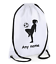 Girl Football Personalised Drawstring Bags Boot Ball  PE Kit Sports Gym Ladies