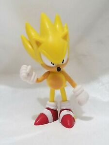 Sonic The Hedgehog Action Figure Super Sonic Yellow Jazwares Sega Video Game Ebay