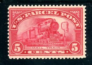 USAstamps-Unused-FVF-US-1913-Parcel-Post-Mail-Train-Scott-Q5-OG-MVLH