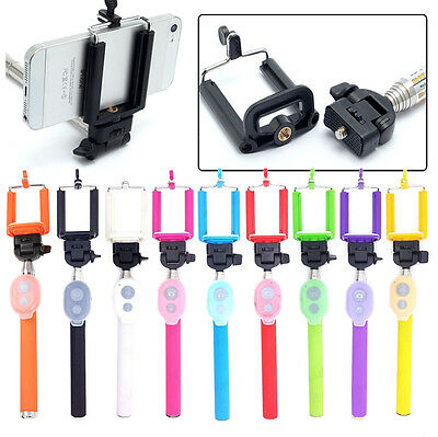 Selfie Handheld Monopod Stick + Holder + Bluetooth Shutter Remote for smartphone