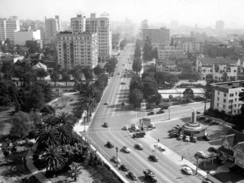 Sky View Wilshire Boulevard California Los Angeles Photo 1944-5