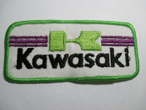 Vintage NOS 4 1//2  X 2 INCHES Kawasaki Patch Original