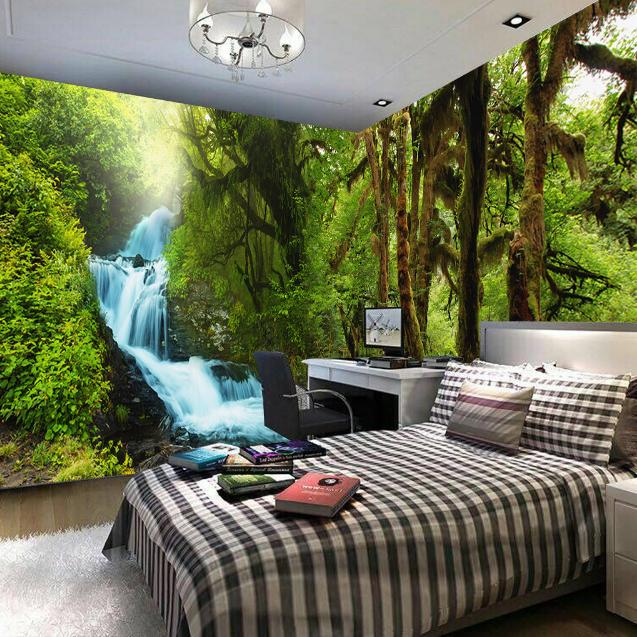 3D Wald Quellwasser 806 Tapete Wandgemälde Tapete Tapeten Bild Familie DE Summer