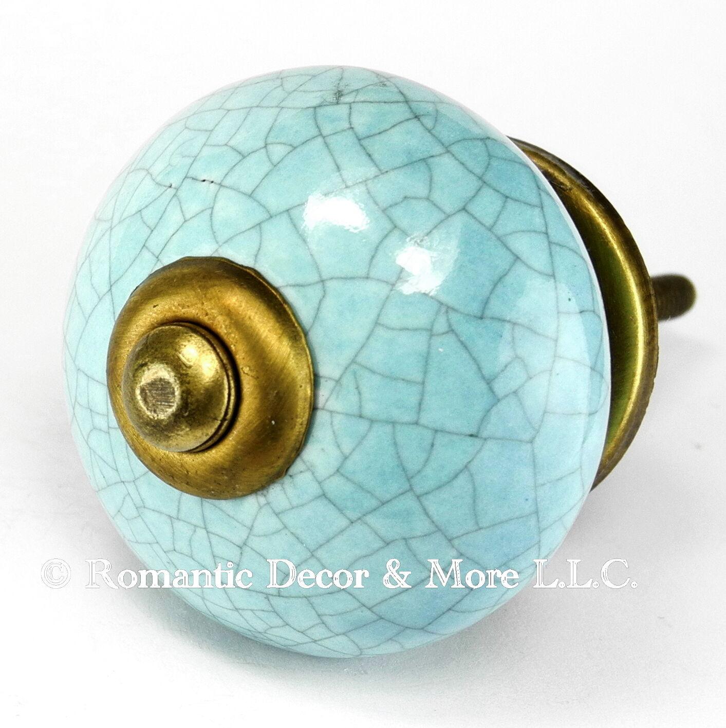 Vintage Ceramic Cabinet Knob, Drawer Pull Hardware or Cupboard Door Knob  C120RR