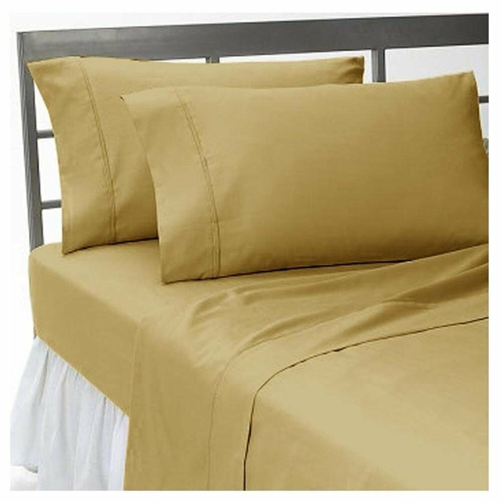 Best Bedding Collection Egyptian Cotton 1000 Count Choose US Size Taupe Solid