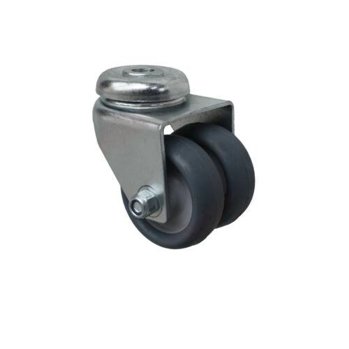 8 pezzi 50 mm apparecchi ruoli ruote doppie ruote orientabili schiena foro fissaggio a1