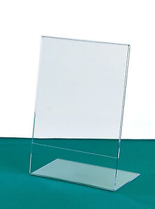 Acrylic Sign Holders Sizes Angled Picture Holder Tabletop - Table top sign holders