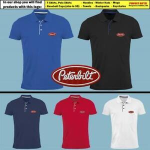 Peterbilt-Trucks-Polo-T-Shirt-EMBROIDERED-Auto-Logo-Mens-Motors-Lorry-Trucker