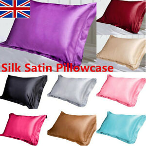 Silk-Satin-Pillow-Case-Standard-Bed-Soft-Cushion-Cover-Multicolor-Pillowcase