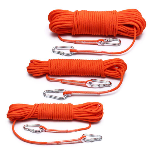 8mm 20//30//50M Durable Rock Climbing Safety Rappelling Rope Auxiliary Cord