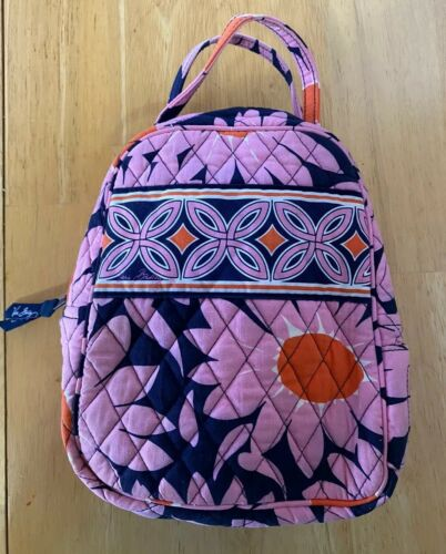 Vera Bradley Lunch Bag Sack Insulated Pink Quilts