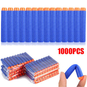 1000pcs Blue Soft Foam Darts Round Head Bullets Blasters For Toy Gun Outdoor Toys & Structures