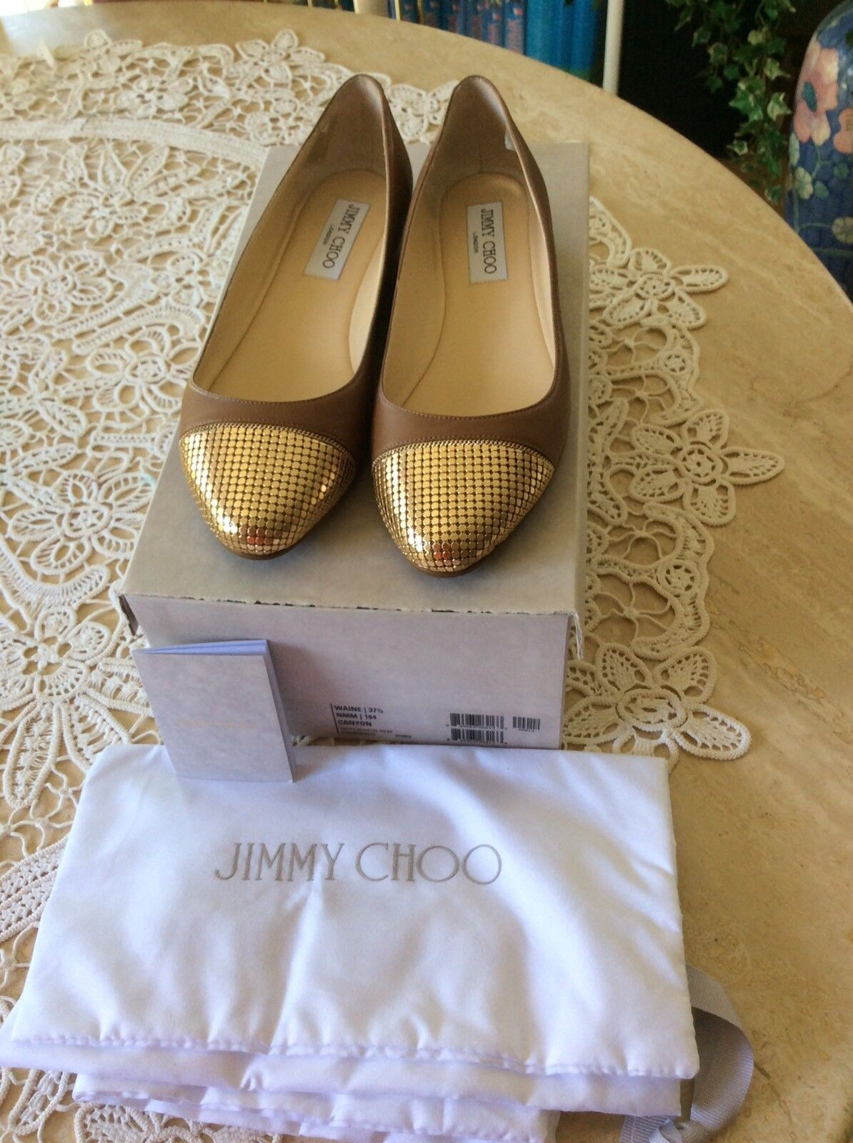 Jimmy Choo Waine, brown gold, 37,5 NEU