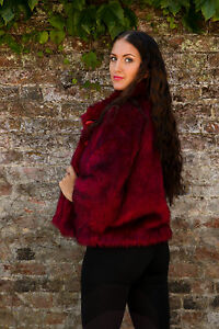 2-tone-Pink-Faux-fur-coat-3-4-length-sleeves-Size-12-by-Heaven