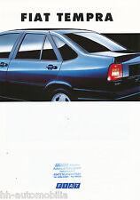 Fiat Tempra Prospekt 2/94 brochure 1994 Autoprospekt Auto PKWs Broschüre Italien