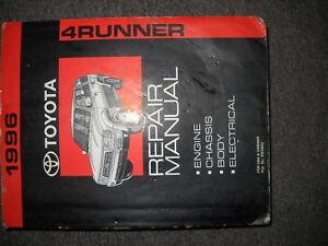 1996-Toyota-4Runner-4-Corredor-Servicio-Tienda-Reparacion-Taller-Manual-Nuevo