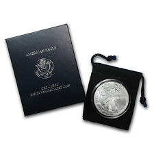 2006-W Burnished Silver American Eagle Coin - Box and Certificate - SKU #24219