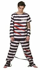 Men's Prisoner Detainee Criminal Psychopath Gothic Halloween Fancy Dress Costume