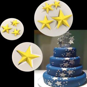 Estrella-marco-pasta-de-azucar-Tarta-Moldes-Silicona-galletas-Chocolate-Hornear