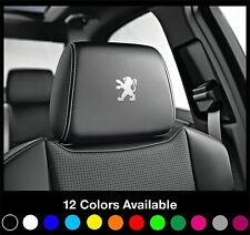 6 PEUGEOT Logo Headrest Car Seat Decals Badge Sticker Rcz Gti 208 308 408 CC 207