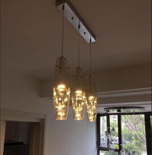 New Modern LED Crystal Glass Ceiling Light Pendant Lamp Chandelier Bar Lighting