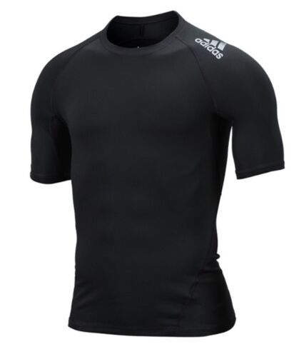 Adidas Men Alphaskin Sports S//S Shirts Black Compression Jersey Tee Shirt CF7235
