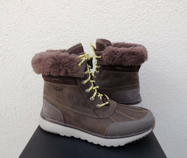 73a42f2855b UGG ELIASSON SLATE WATER-PROOF LEATHER WINTER DUCK BOOTS, US 9/ EUR 42 ~NIB
