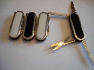 12 Couteaux De Poche Multifonction Keychains.-afficher Le Titre D'origine