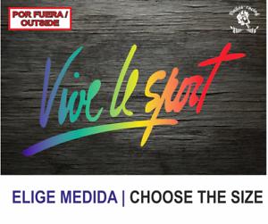Vive-le-Sport-Vinilo-Sticker-Decal-Vinyl-Autocollant-Auftkleber-Pegatina-C1