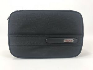 Tumi-Split-Case-Travel-Kit-Toiletry-Shave-Bag-Dopp-Kit-Black-Ballistic-Nylon
