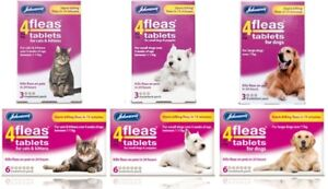 Johnsons-4Fleas-Tablets-Cat-Dog-Puppy-Starts-Killing-Fleas-In-15-Mins-3-amp-6-Pack