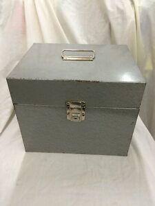 Incroyable Image Is Loading Mid Century Industrial Metal Storage File Box Vintage