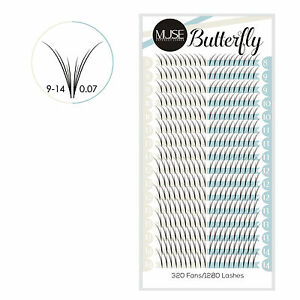 075914c3e70 MUSE 0.07 4D Butterfly Pre fanned Volume Lashes Russian Fans Eyelash ...