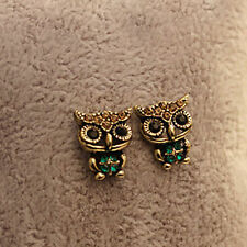 New Jewelry Lady Fashion Style Owl Rhinestone Cute Ear Stud Earrings