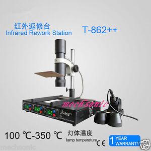 T862++ IRDA Welder Infrared SMT SMD BGA Rework Station  Fast shipping Updated