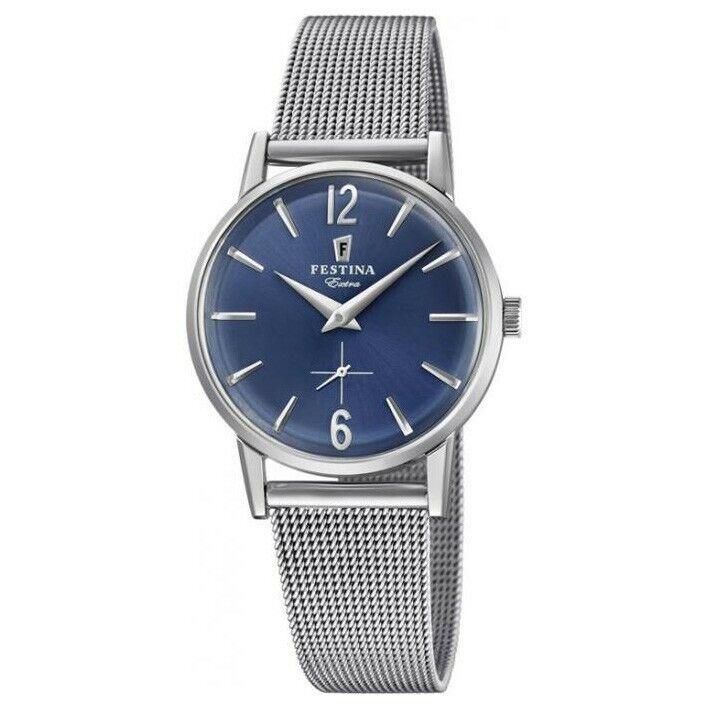 Festina Extra mujer F20258/3 reloj esfera azul brazalete milanesa diámetro 29 mm