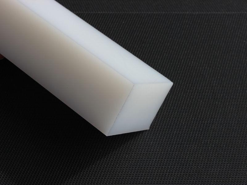 Plastica Blocco Quadrato Pe 515x210x90 mm HD Bianco Piastra Blocco Rest Pezzo