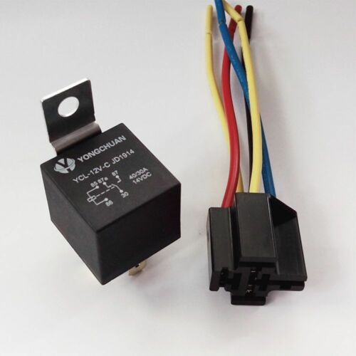 12V Automotive Changeover Relay 40A 5-Pin with Socket Universal