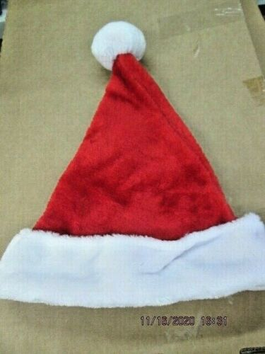Details about  /SANTA CLAUS HAT CHRISTMAS FITS MOST PEOPLE SIZES SMALL AND LARGE NEW