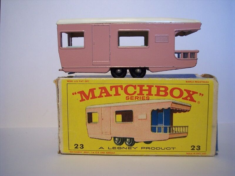 Matchbox 1-75 Regular Wheel Series no 23d Trailer Caravan  OVP