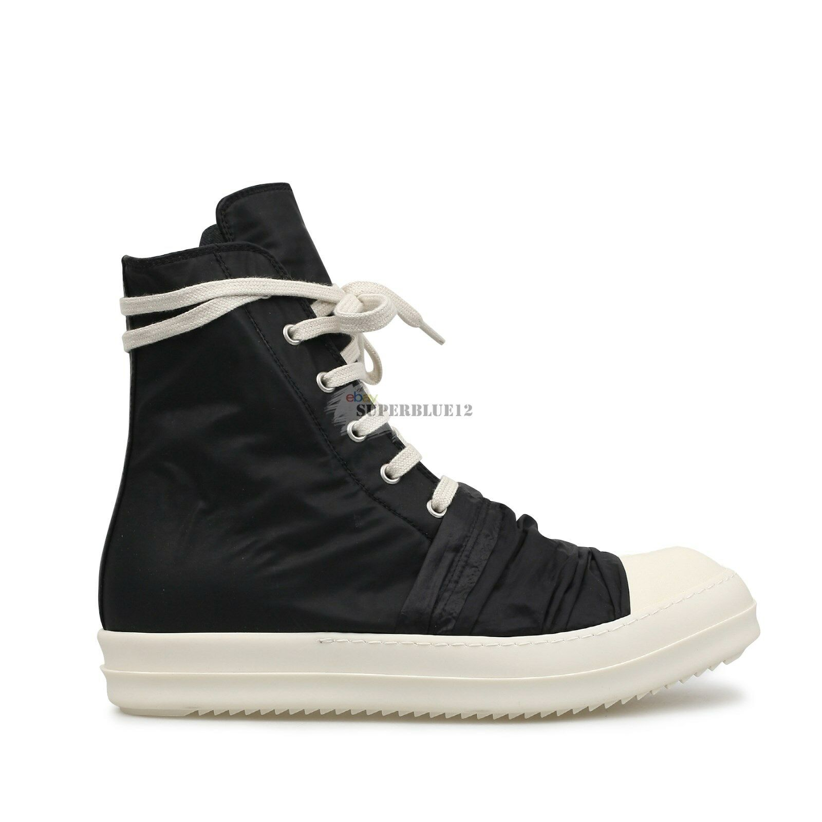 DRKSHDW by RICK OWENS DRAPE FRONT HIGH TOP SNEAKERS FREE SHIPPING