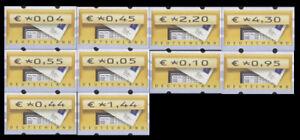 BRD-Bund-ATM-5-1-VS6-postfr-gest-004-005-010-044-045-055-095-144-220-430-Cent