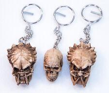 Predator Alien Keyring Keychain Human Skull Bonehead handmade Biker chopper 3x