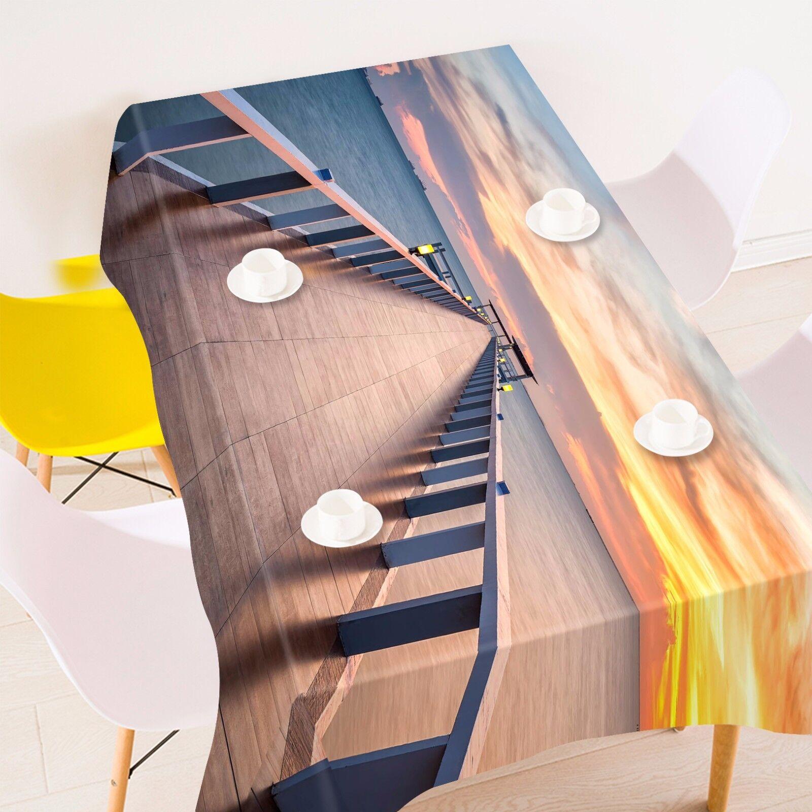 3D pont 46 Nappe Table Cover Cloth fête d'anniversaire AJ papier peint Royaume-Uni Citron