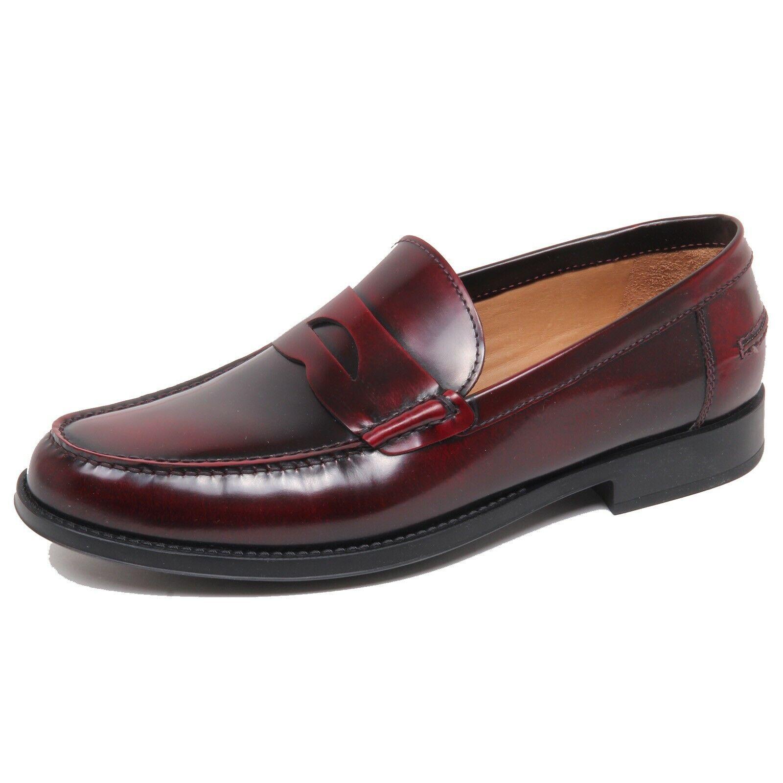 F5156 mocassino hombres Burdeos ALTIERI MILANO zapatos Zapato Mocasín hombre